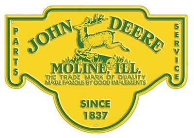 NEW John Deere Parts Service Embossed Tin Sign 16.5 x 11.5 LP67284