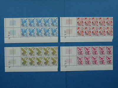 TIMBRES FRANCE PREOBLITERES 1978 Y&T N°154-155-156-157 NEUFS ** (coins datés)