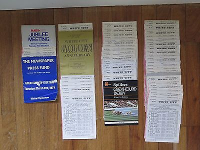 50 White City Greyhound Racing Programmes in the year 1977