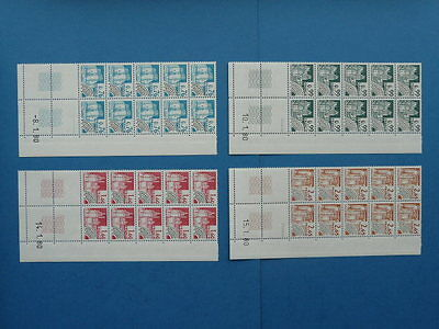 TIMBRES FRANCE PREOBLITERES 1980 Y&T N°166-167-168-169 NEUFS ** (coins datés)