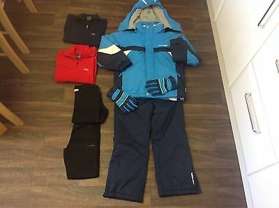 Boys Ski Jacket / Trousers /base. Layers / Gloves /mid Layers Age 7-8 Years