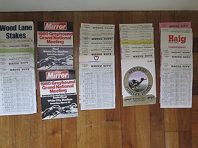 39 White City Greyhound Racing Programmes in the year 1980