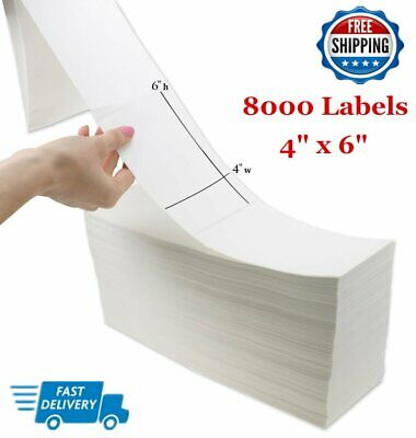 12000 Fanfold 4 x 6 Direct Thermal Shipping Postage Labels - Zebra 2844 USPS UPS