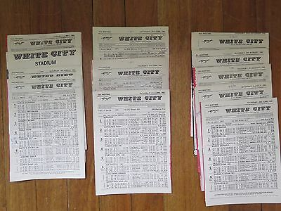12 White City Greyhound Racing Programmes in the year 1983