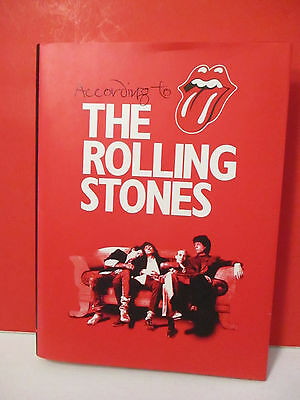 """According to The Rolling Stones"" SIGNED Coffee Table Book MINT FIRST EDITION!!"