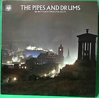 8th Battalion The Royal Scots Vinyl Record LP Military Pipes & Drums