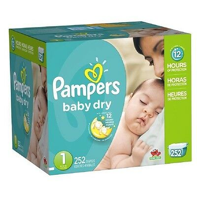 Pampers Baby Dry Diapers Economy Plus Pack Size 1 252 Count
