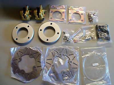 "Quadrax 95-04 Honda Foreman 400 450 w/12"" wheels Front Disc Brake Conversion Kit"