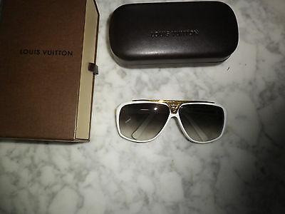 vuitton lunettes  sunglasses evidence blanche white