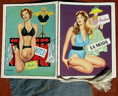 Calendarietto Da Barbiere - La Moda, Boutique - Anno 1961 - Calendario