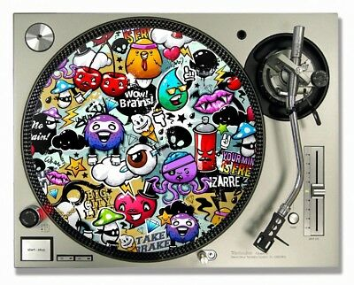 Hip Hop Graffiti Style - Turntable / DJ Slipmats - (PAIR)