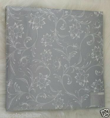 Stylish Silver Leaf Postbound Photo/Picture Album with 10 Sheets Self Adhesive