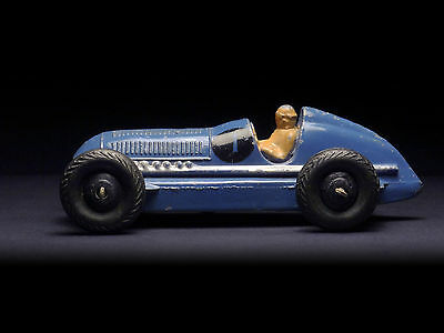 Mercedes-Benz • Dinky Toys 23C (England 1946–1950) blue 3rd casting
