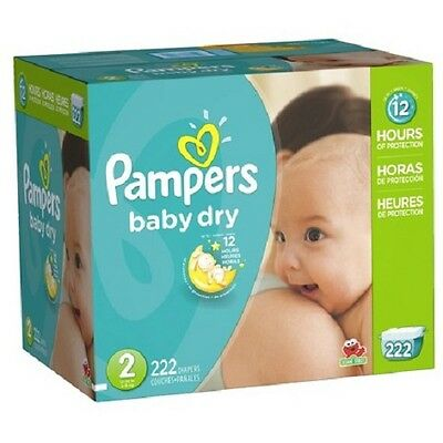 Pampers Baby Dry Diapers Economy Plus Pack Size 2 222 Count