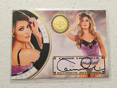 Benchwarmer 2014 Vegas Baby Autograph - Cassie Cardelle