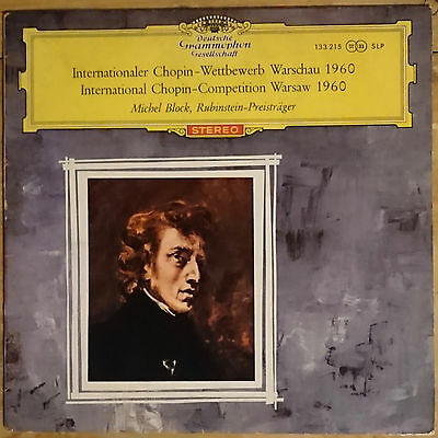 "Block Int Chopin Competition 1960 DG Red Stereo 10"" Classical Vinyl Record"