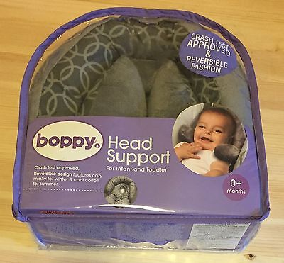 Boppy Head Support Chicco Infant Toddler Gray Design NEW
