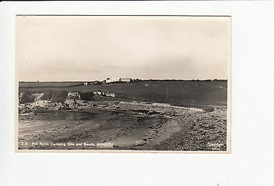 Pill Farm Camping Site and Beach Angle Vintage Postcard