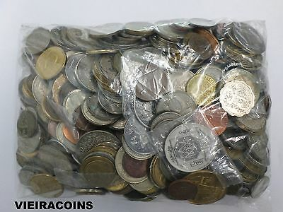 Lot of 500 Foreign Coins, Tokens & Medals - Mixed Countries - #B10,350
