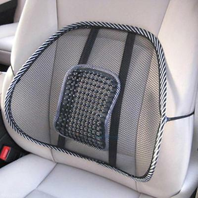 Cool Vent Cushion Mesh Back Lumbar Support Car Office Chair Truck Seat Black New