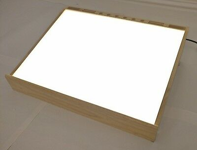 Trident wooden light box with two 13W bulbs