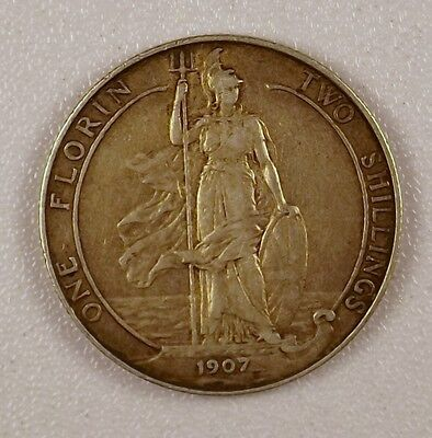 1907 - Florin Silver Coin from Great Britain