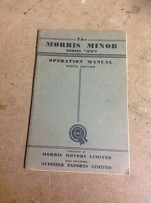 The Morris Minor Series MM Operation Manual