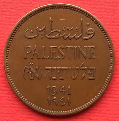 Palestine Israel Islamic Arabic coin 2 Mils 1941 British Administration