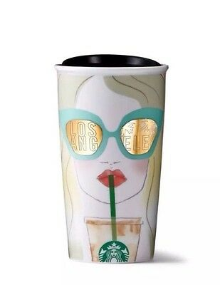 Starbucks Los Angeles 2016 Collectible Coffee Double Wall Traveler Mug NEW