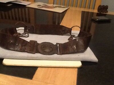 Very Old Vintage Boy Scout Leather Belt