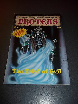 Proteus #10, 1987, Fantasy Adventure Role Playing Game Magazine with poster!!