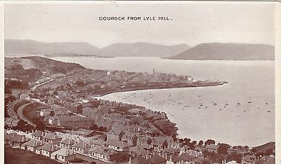 Gourock From Lyle Hill B&w Postcard (1958)