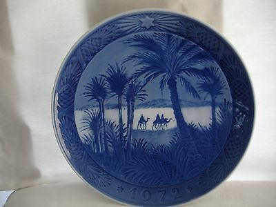 Royal Copenhagen Xmas Plate 1972 In The Desert Excellent Condition