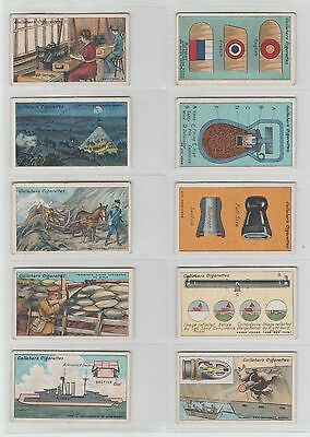 50 Gallaher Cards: The Great War Second Series 1916