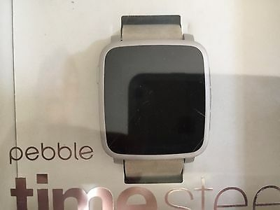 Pebble Time Smartwatch-Time steel