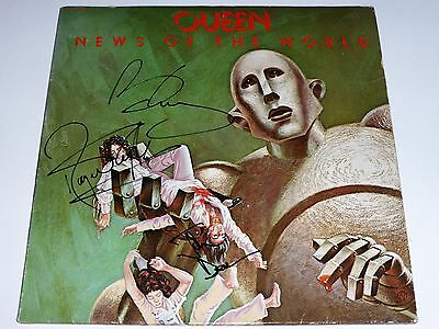 """Queen """"news Of The World"""" Signed Lp Record Album X 3 Exact Proof Rare!"""