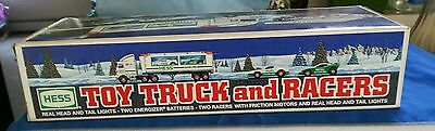 NEW 1997 Hess Toy Truck and (2) Racers  Real Head and Tail Lights Instructions