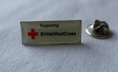 Silver Tone & Enamel: SUPPORTING BRITISH RED CROSS  [Pin Badge] (5)