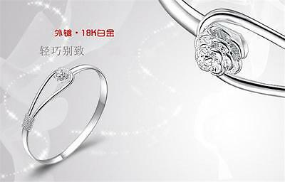 New products fashion jewelry 925 silver solid Rose Bracelets Girls holiday Gift