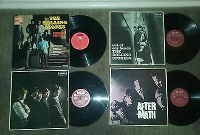 """The Rolling Stones """"collection of 4 original LPs"""" DECCA"""