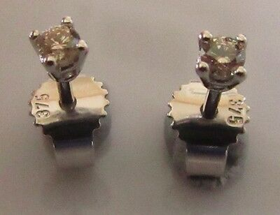 SECONDHAND 9CT WHITE GOLD BRILLIANT ROUND CUT DIAMOND (0.03ctx2) STUD EARRINGS.
