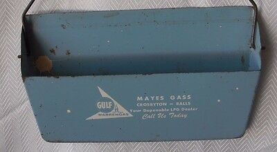 Vintage GULF LPG Dealer Metal Dust Pan - Crosbyton Ralls Texas - TX Advertising