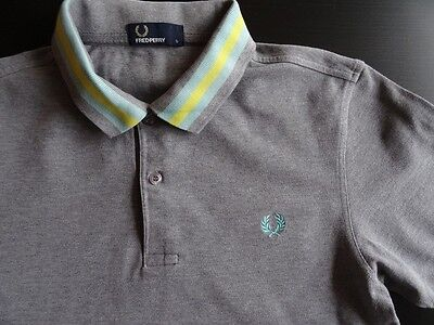 defect Fred Perry men's top polo shirt / Size S / Grey