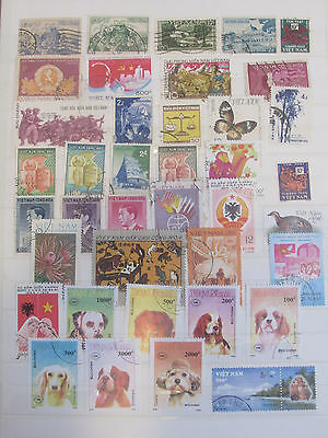 Vietnam stamp collection from an old album