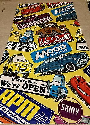 NWT Disney Parks Cars Lightning McQueen Tow Mater Large Colorful Beach Towel