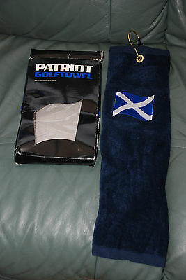 Only One Listed Genuine Patriot Scotland Saltire Golf Tri Fold Towel