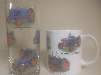 Fordson Tractor Mug &glass With 6 Different Tractors. Chip Resisant Mug