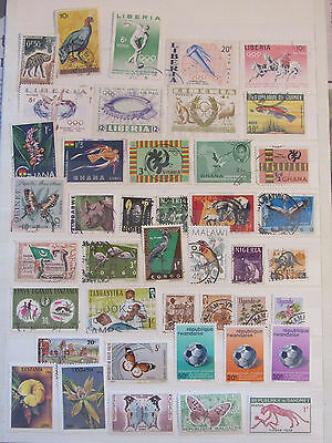 Africa stamp collection from an old album