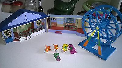 Barney The Dinosaur School House Play Set with Figures and Ferris Wheel