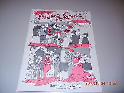 The Pirates of Penzance PERFORMER'S PART  56pgs NEW Old Stock 1988 Shawnee Press